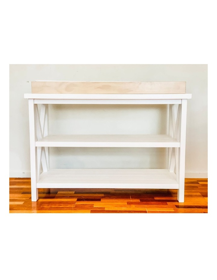 Hampton 3 Tiered Table with Change Tray Top  Natural/White image 4