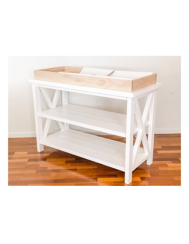 Hampton 3 Tiered Table with Change Tray Top  Natural/White image 6