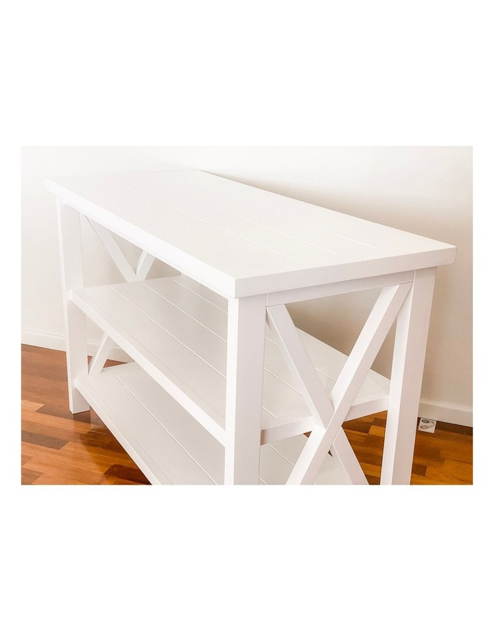 Hampton 3 Tiered Table with Change Tray Top  Natural/White image 7