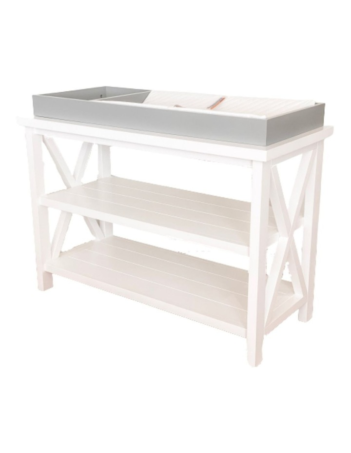 Hampton 3 Tiered Table with Change Tray Top  Grey/White image 1