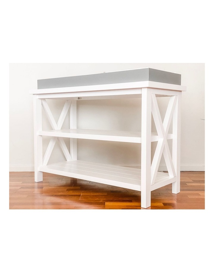 Hampton 3 Tiered Table with Change Tray Top  Grey/White image 2