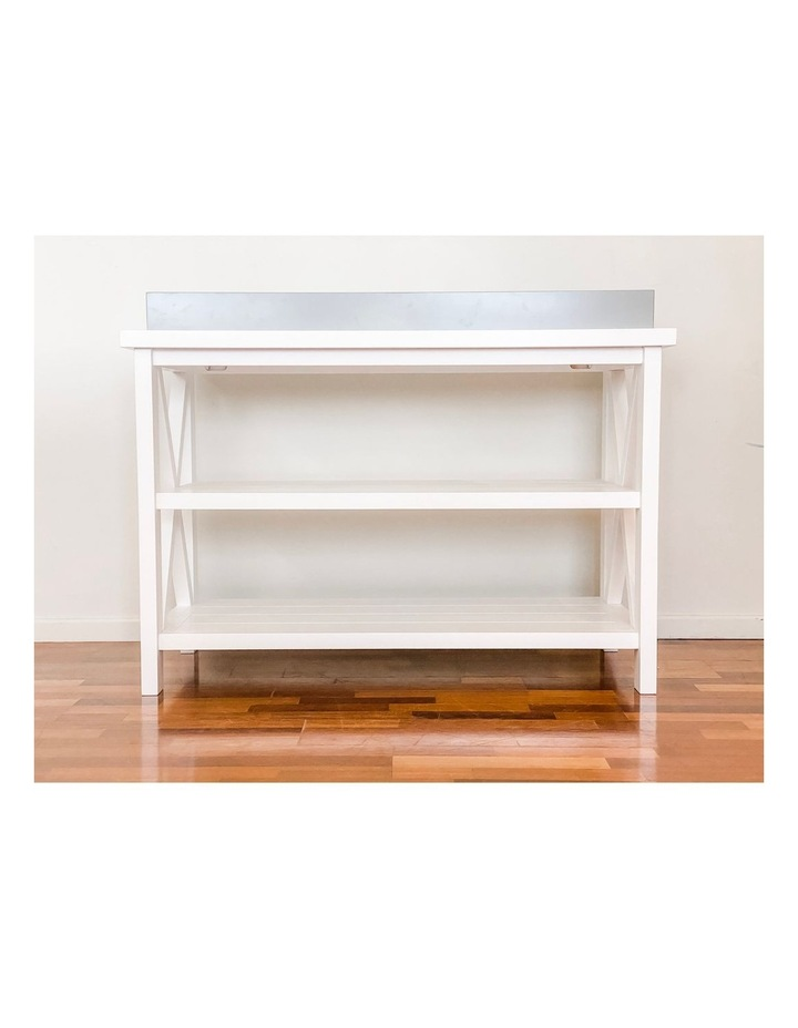 Hampton 3 Tiered Table with Change Tray Top  Grey/White image 5