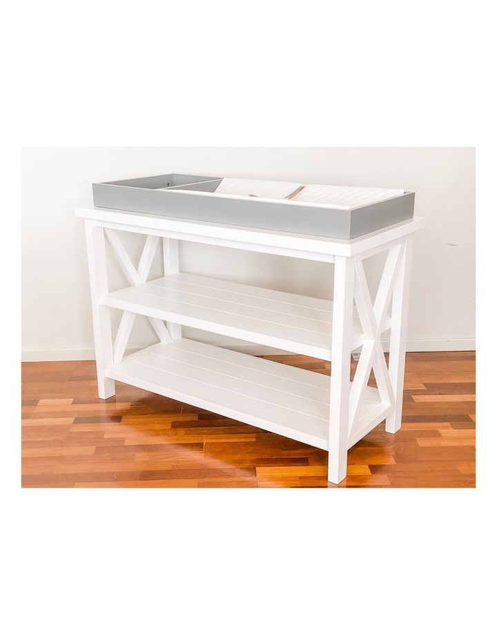 Hampton 3 Tiered Table with Change Tray Top  Grey/White image 6
