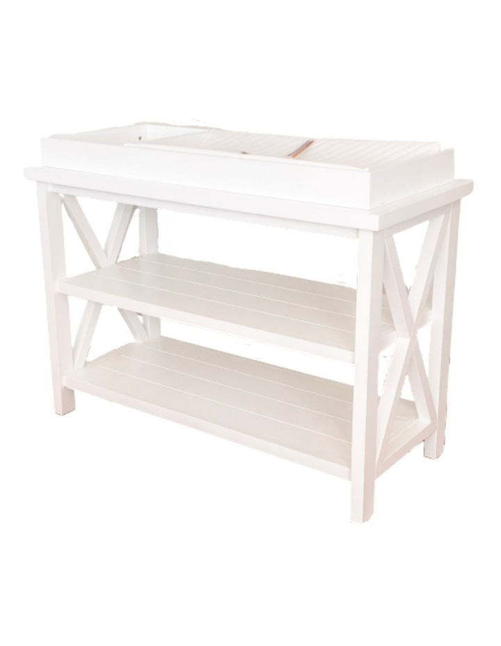 Hampton 3 Tiered Table with Change Tray Top  White image 1
