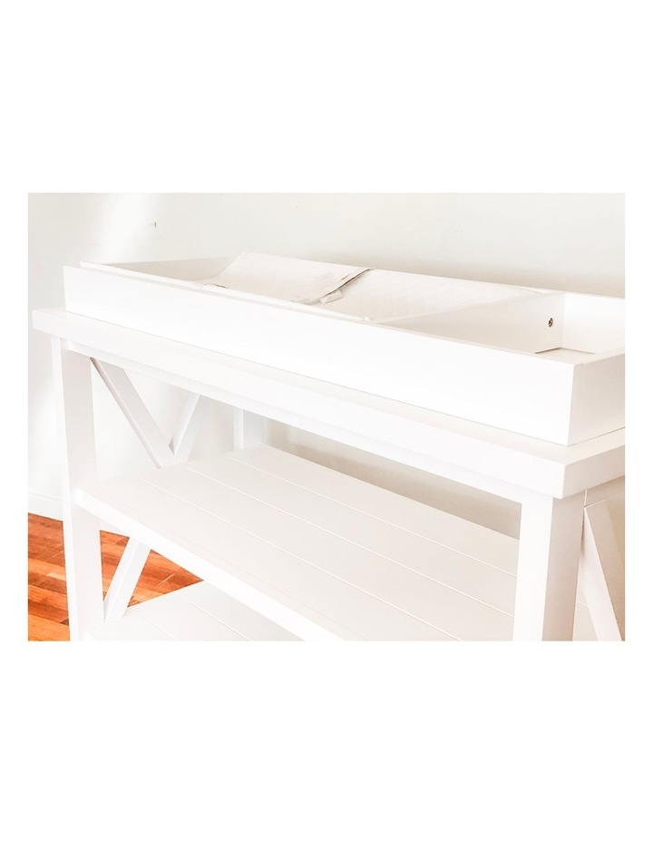 Hampton 3 Tiered Table with Change Tray Top  White image 2