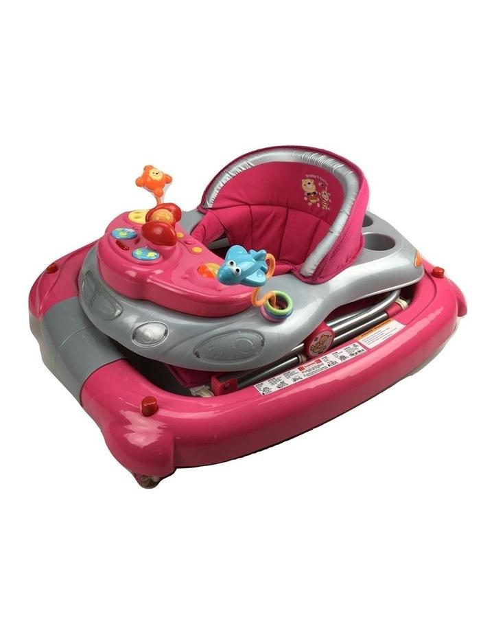Fuchsia Pink Car 2-in-1 Baby Walker & Rocker image 2