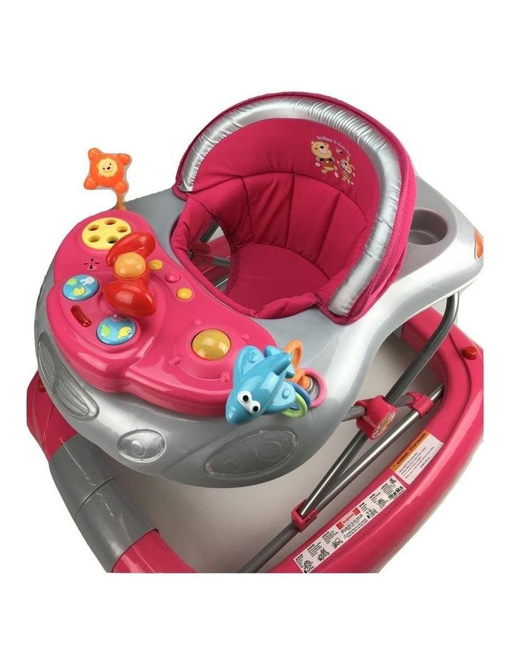 Fuchsia Pink Car 2-in-1 Baby Walker & Rocker image 3
