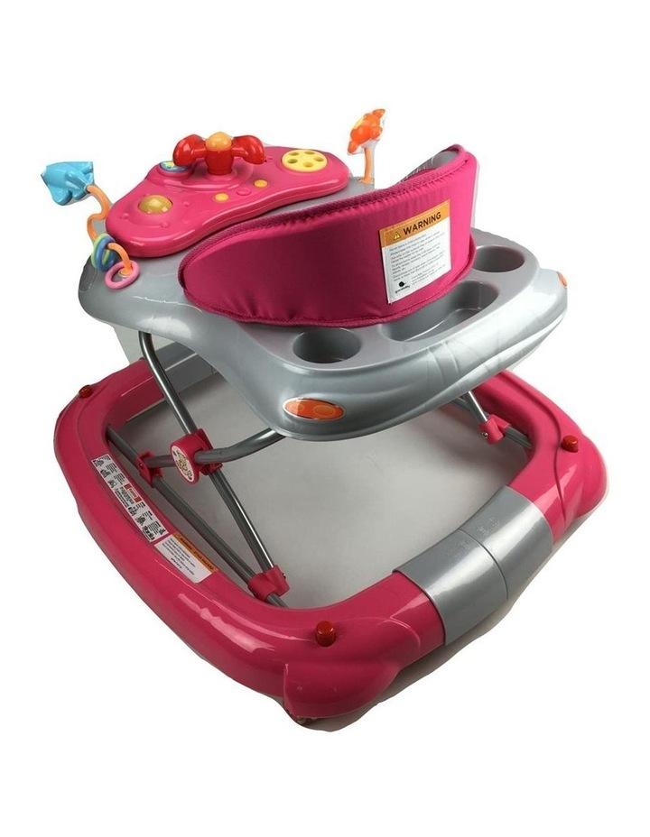 Fuchsia Pink Car 2-in-1 Baby Walker & Rocker image 4