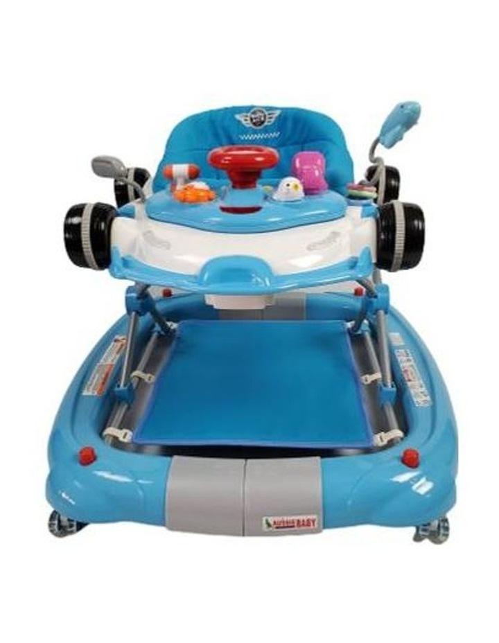 Racing Car 4-in-1 Baby Walker & Rocker - Blue image 2