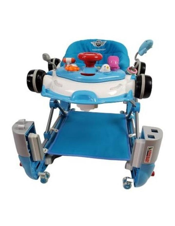 Racing Car 4-in-1 Baby Walker & Rocker - Blue image 3