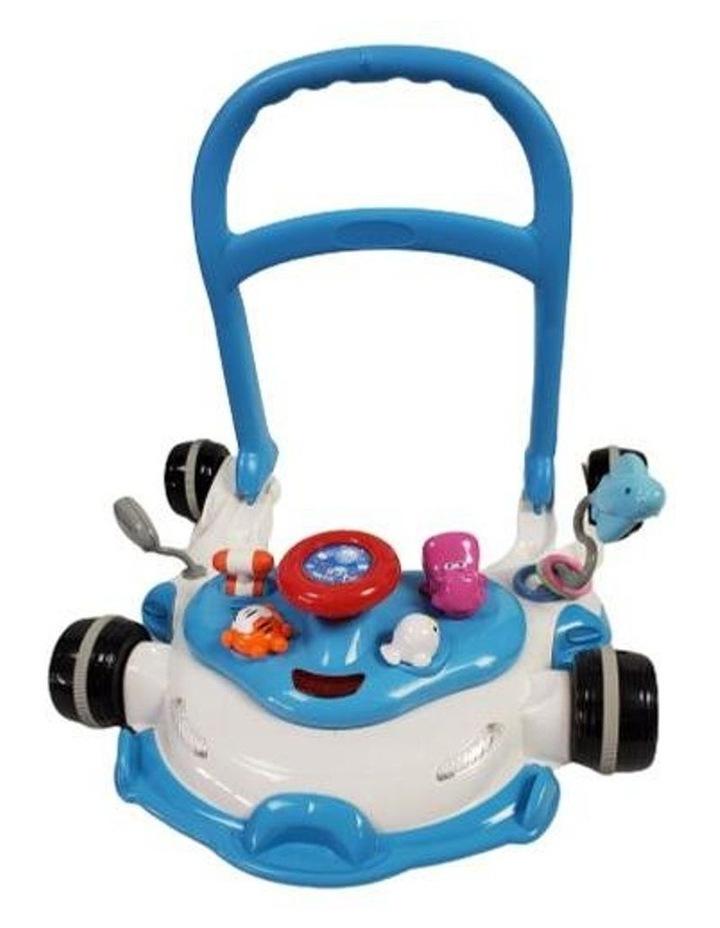 Racing Car 4-in-1 Baby Walker & Rocker - Blue image 4
