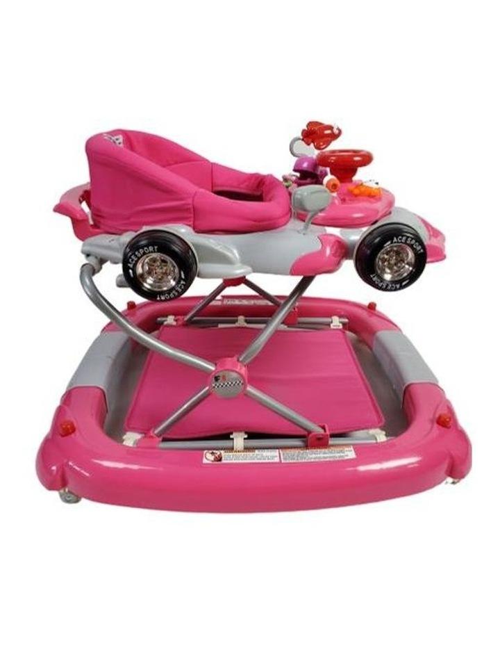 Racing Car 4-in-1 Baby Walker & Rocker - Pink image 3