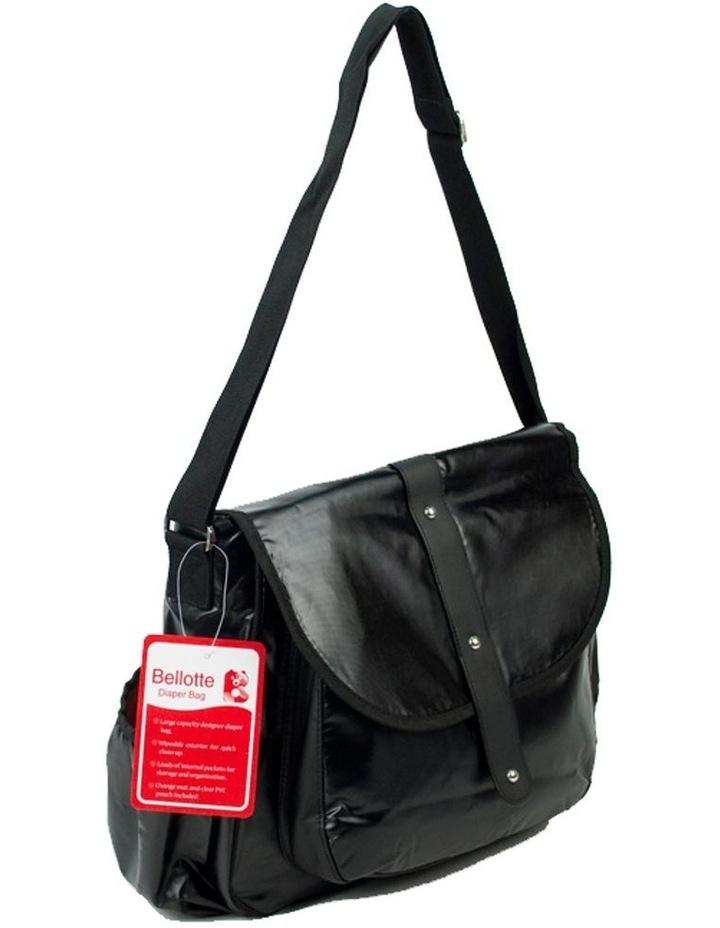Bellotte Satchel Nappy Bag - Shiny Black image 2