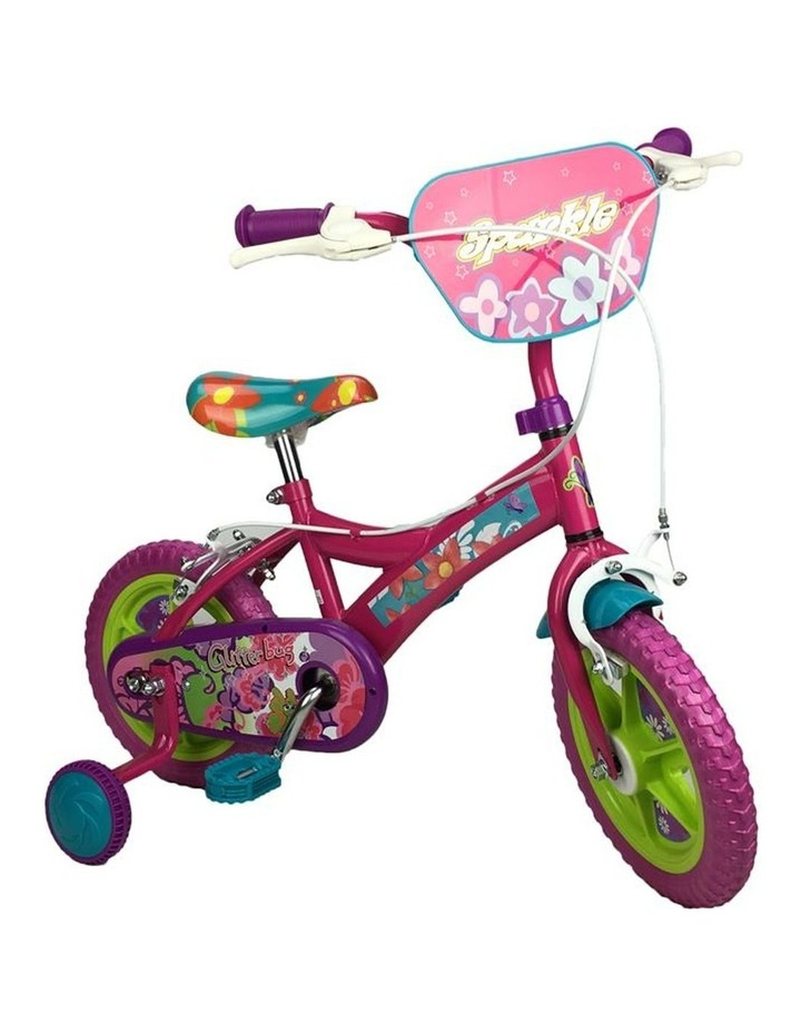 Sparkle Fuchsia Flower 12 Inch Girls Pavement Cycle image 1