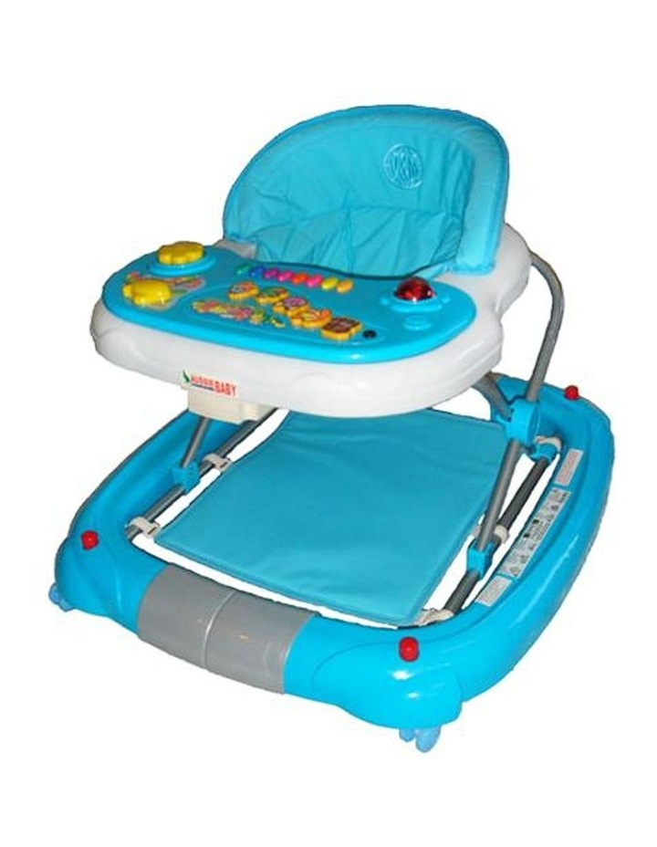 Deluxe Blue Musical Baby Walker Rocker Activity Play Centre image 1