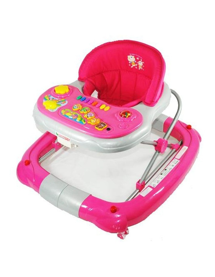 Deluxe Pink Fuchsia Musical Baby Walker Rocker Activity Play Centre image 1