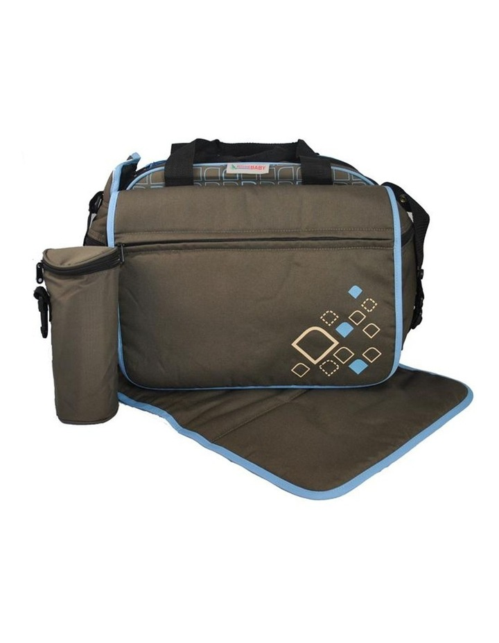 Out & About Carry All Travel Nappy Bag w/ Thermal Bottle Holder - Blue image 1