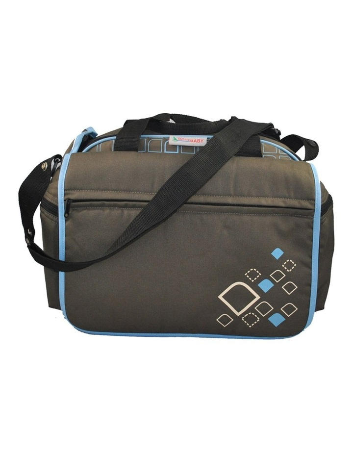 Out & About Carry All Travel Nappy Bag w/ Thermal Bottle Holder - Blue image 2