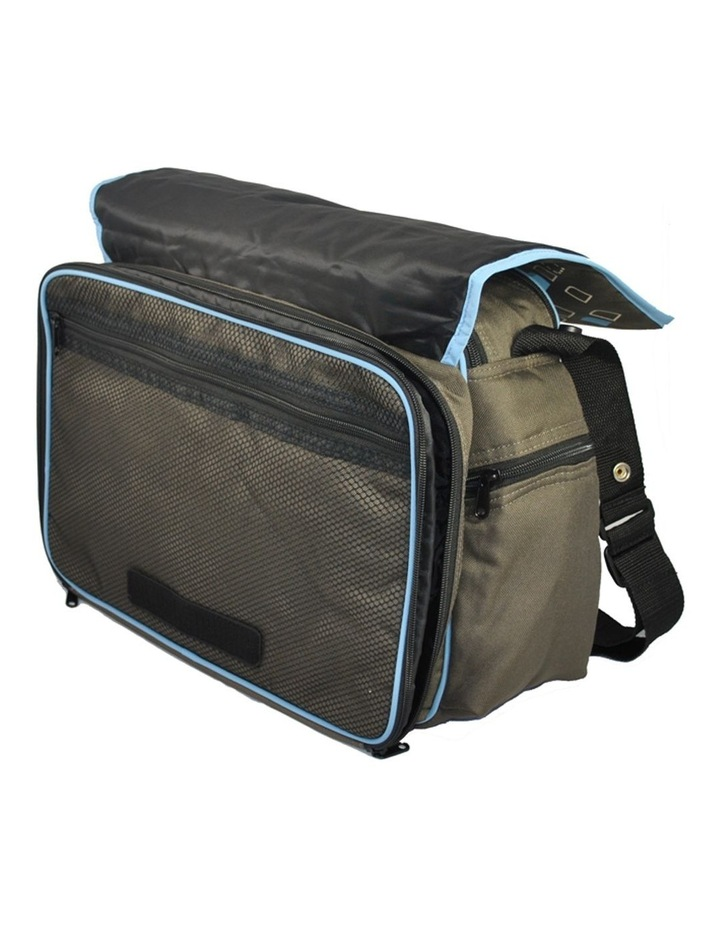 Out & About Carry All Travel Nappy Bag w/ Thermal Bottle Holder - Blue image 3