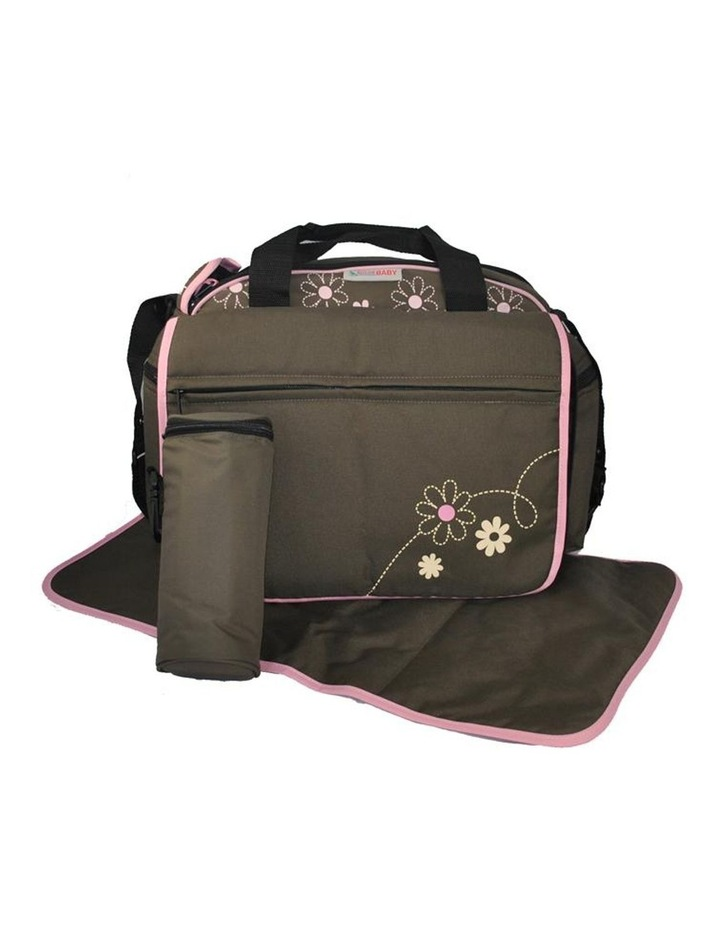 Out & About Carry All Travel Nappy Bag w/ Thermal Bottle Holder - Pink image 1