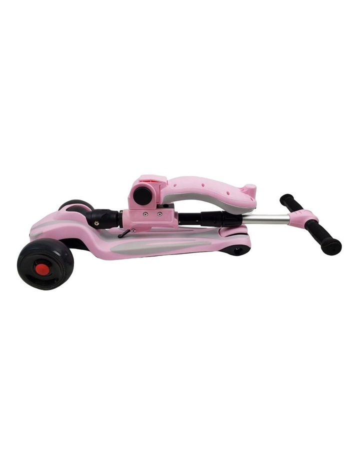Supermax 2-in-1 Kids Foldable Scooter & Ride On - Pink image 6