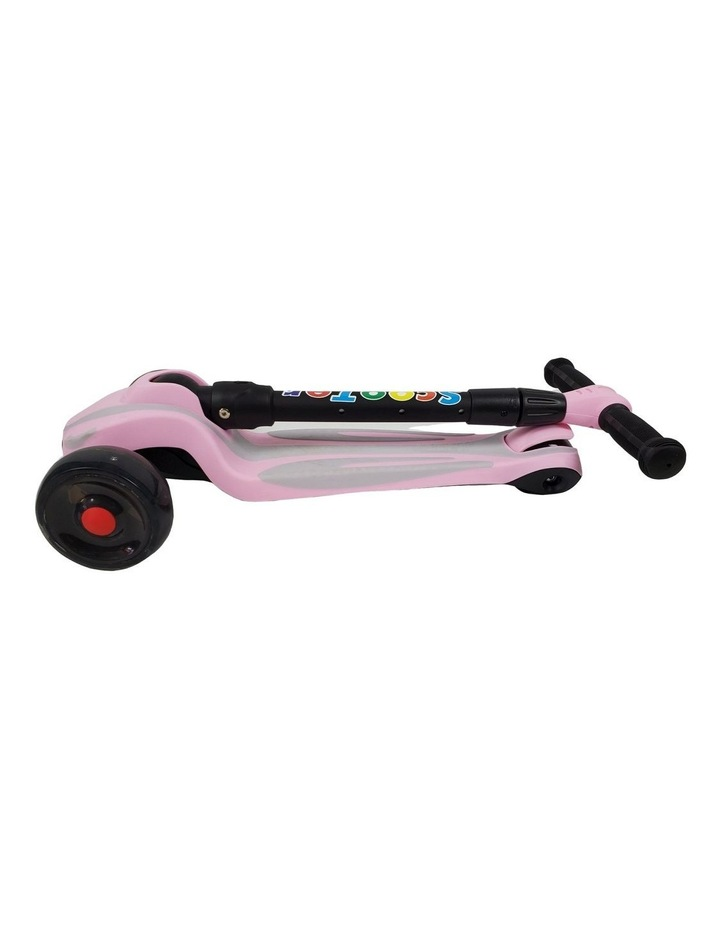 Supermax Kids Foldable Scooter with Flashing Wheels - Pink image 3