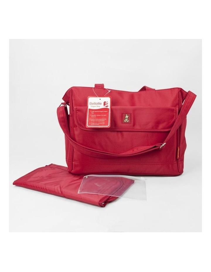 Bear Tote Nappy Bag - Red image 2