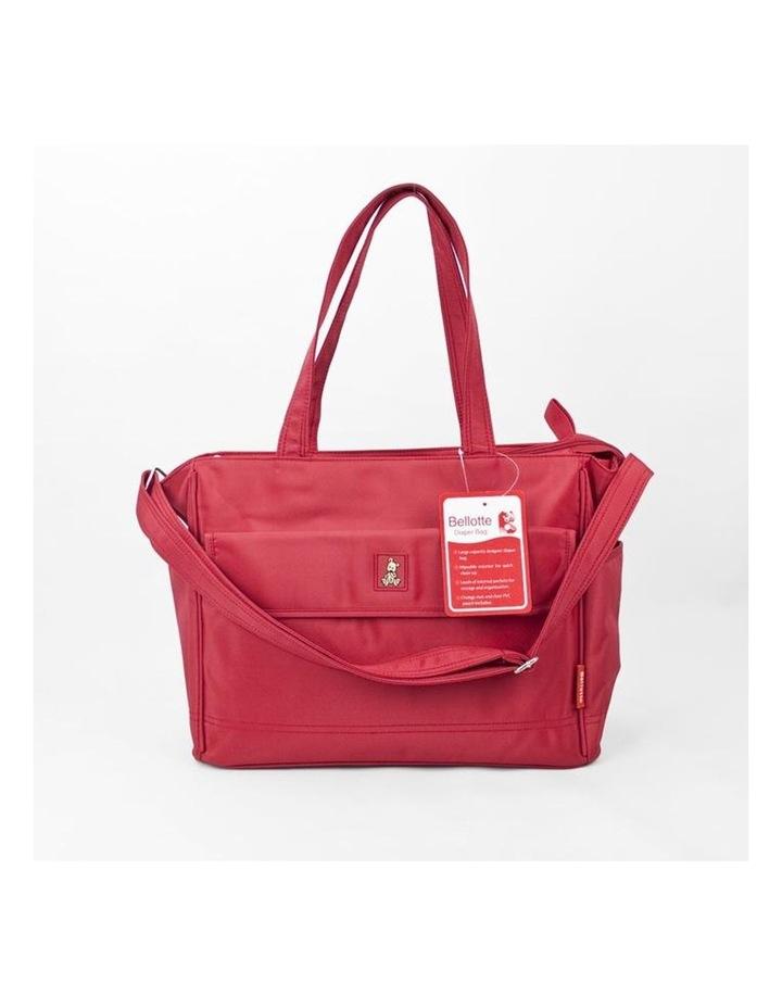 Bear Tote Nappy Bag - Red image 3