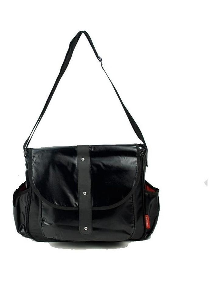 Satchel Nappy Bag - Shiny Black image 1