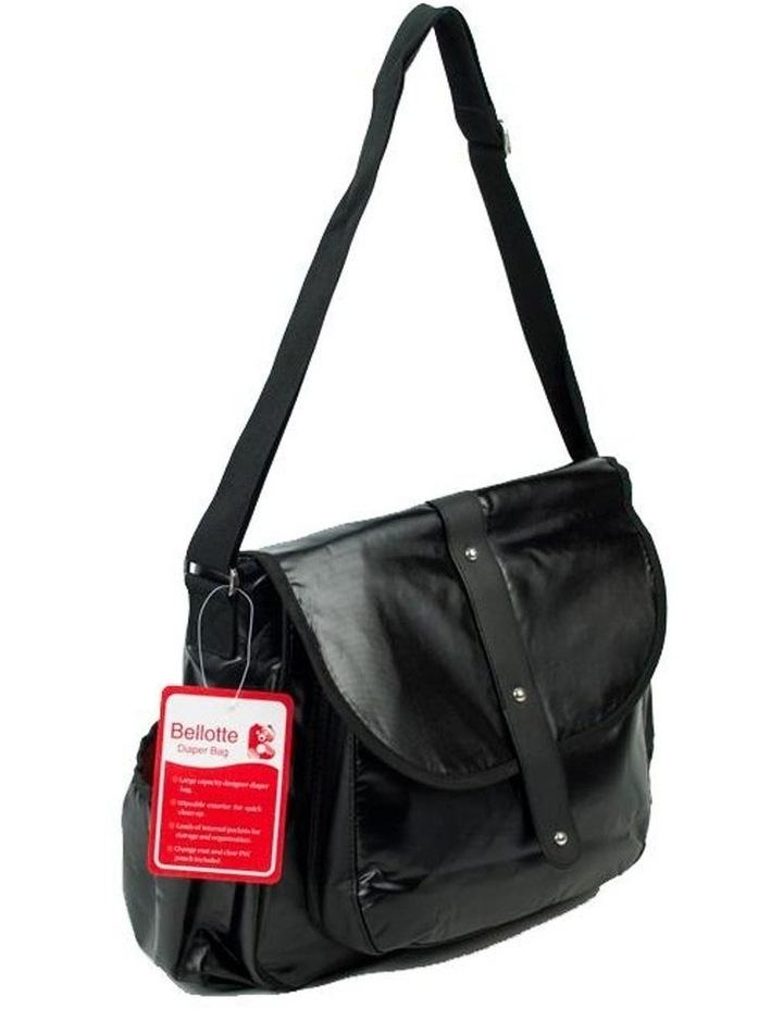 Satchel Nappy Bag - Shiny Black image 2