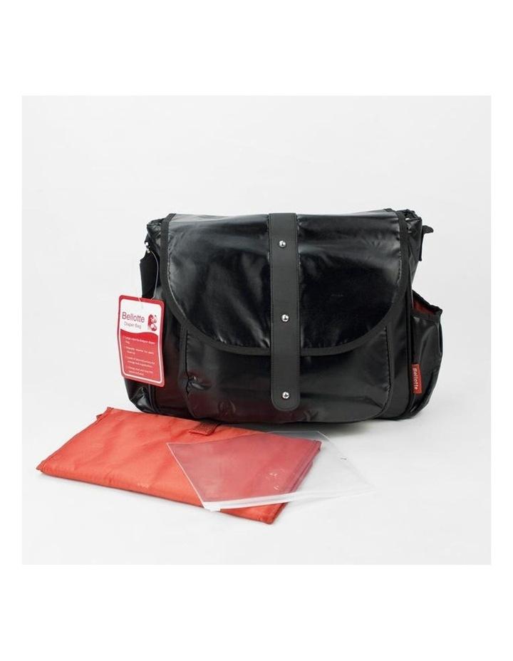 Satchel Nappy Bag - Shiny Black image 3