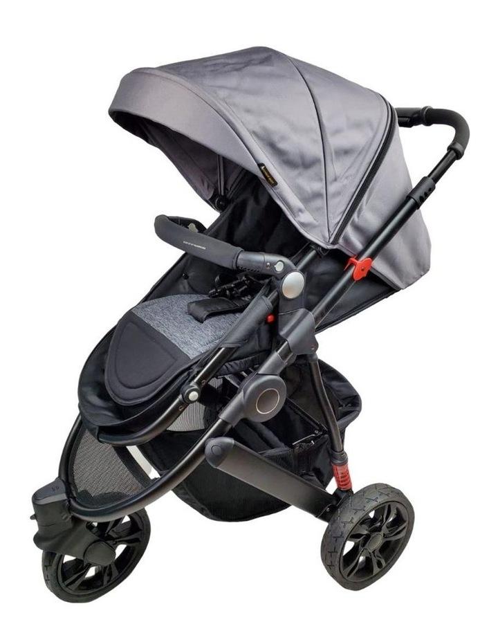 Aussie Baby Explorer 3 Wheels Pram - Grey image 1