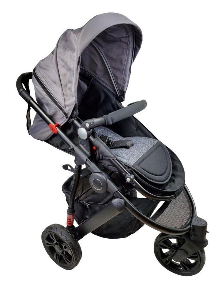 Aussie Baby Explorer 3 Wheels Pram - Grey image 2