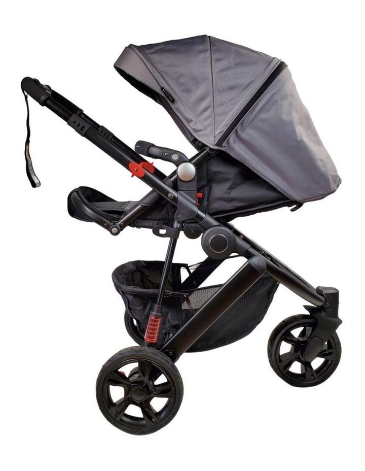 Aussie Baby Explorer 3 Wheels Pram - Grey image 3