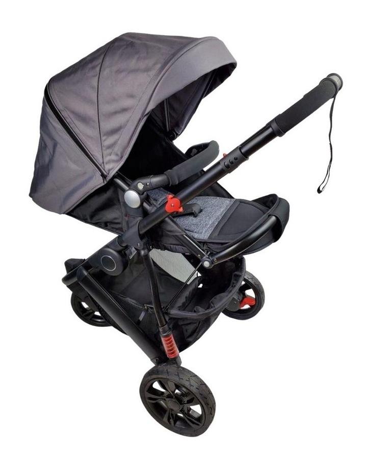 Aussie Baby Explorer 3 Wheels Pram - Grey image 4