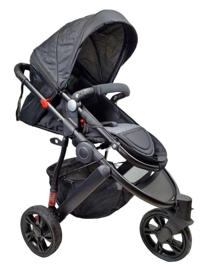 Aussie Baby Explorer 3 Wheels Pram - Black image 1