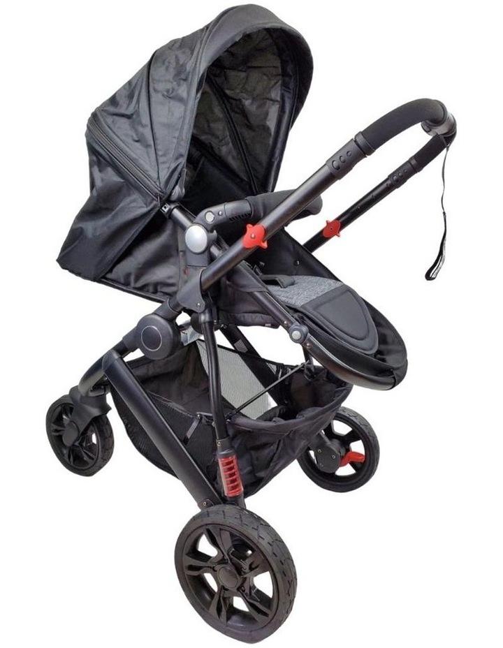 Aussie Baby Explorer 3 Wheels Pram - Black image 2