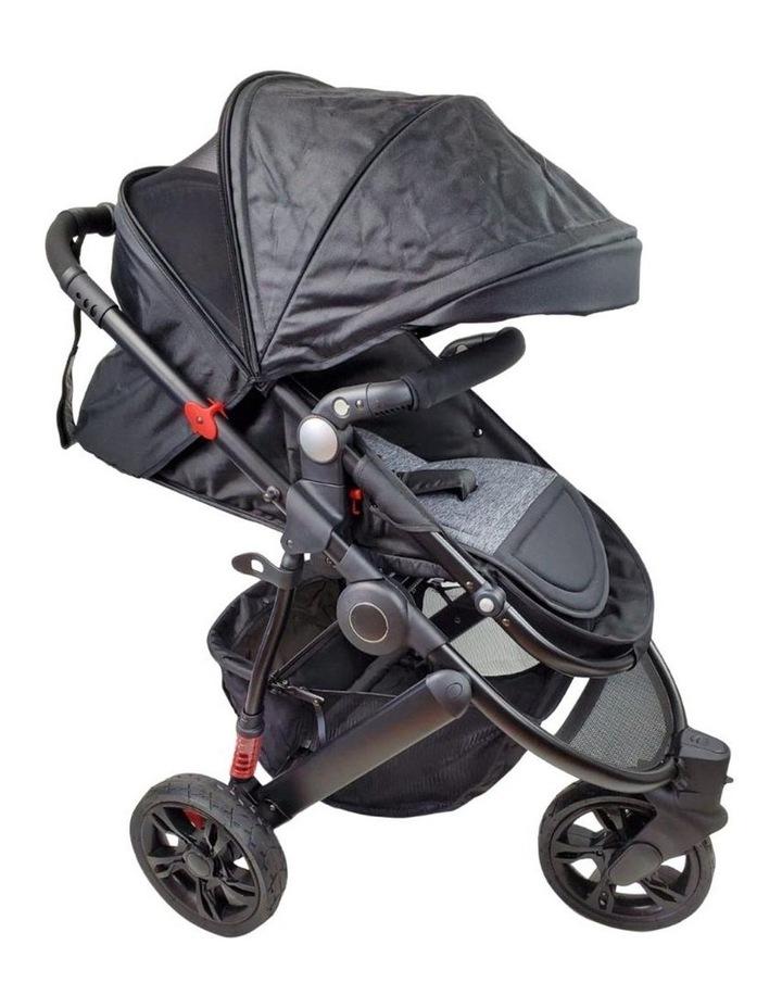 Aussie Baby Explorer 3 Wheels Pram - Black image 3