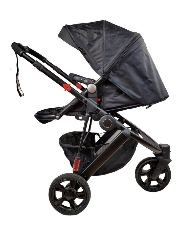 Aussie Baby Explorer 3 Wheels Pram - Black image 4