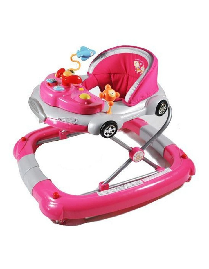 Car Theme Fuchsia Pink Baby Walker Rocker Play Activity Centre image 1
