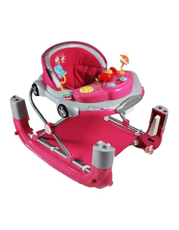 Car Theme Fuchsia Pink Baby Walker Rocker Play Activity Centre image 2