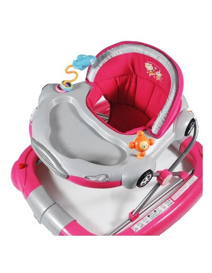 Car Theme Fuchsia Pink Baby Walker Rocker Play Activity Centre image 3
