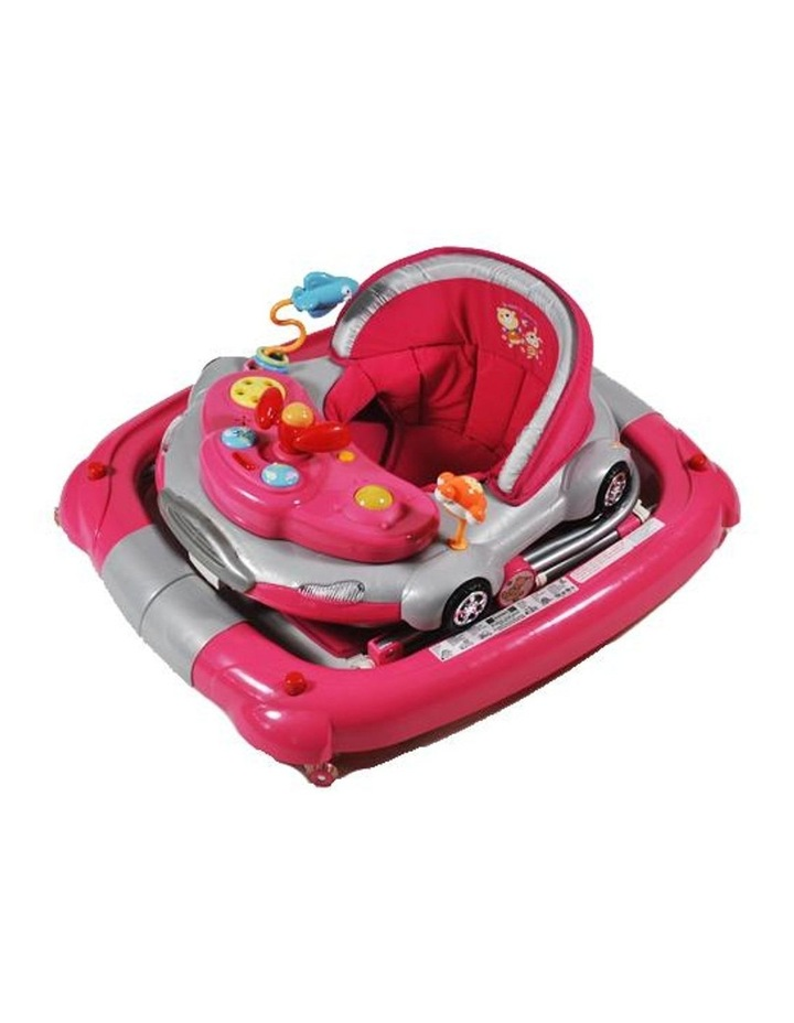 Car Theme Fuchsia Pink Baby Walker Rocker Play Activity Centre image 4