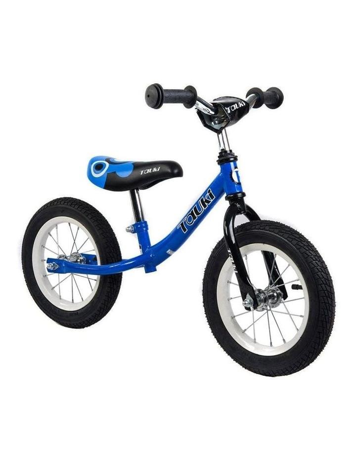 Kid Balance Bike No Pedal Push Bicycle 12 Inch - Blue image 1