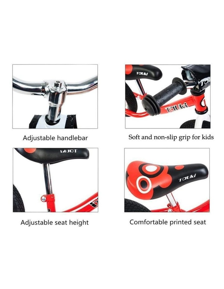 Kid Balance Bike No Pedal Push Bicycle 12 Inch - Red image 5