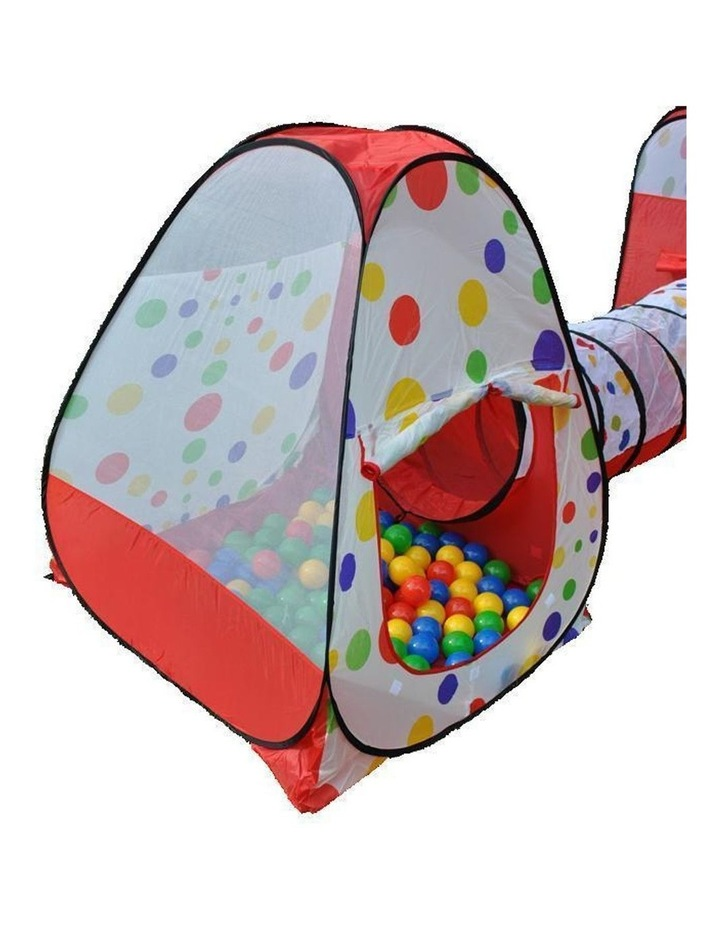 Wonder Castle Play Tent Ball House and Tunnel with 200 Soft Balls image 2