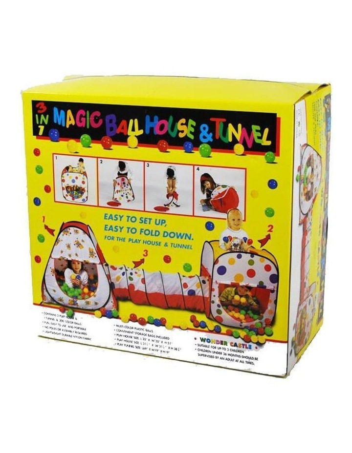 Wonder Castle Play Tent Ball House and Tunnel with 200 Soft Balls image 4