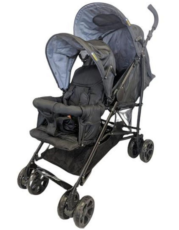 Aussie Baby Vitesse Deux Tandem Stroller - Black image 1