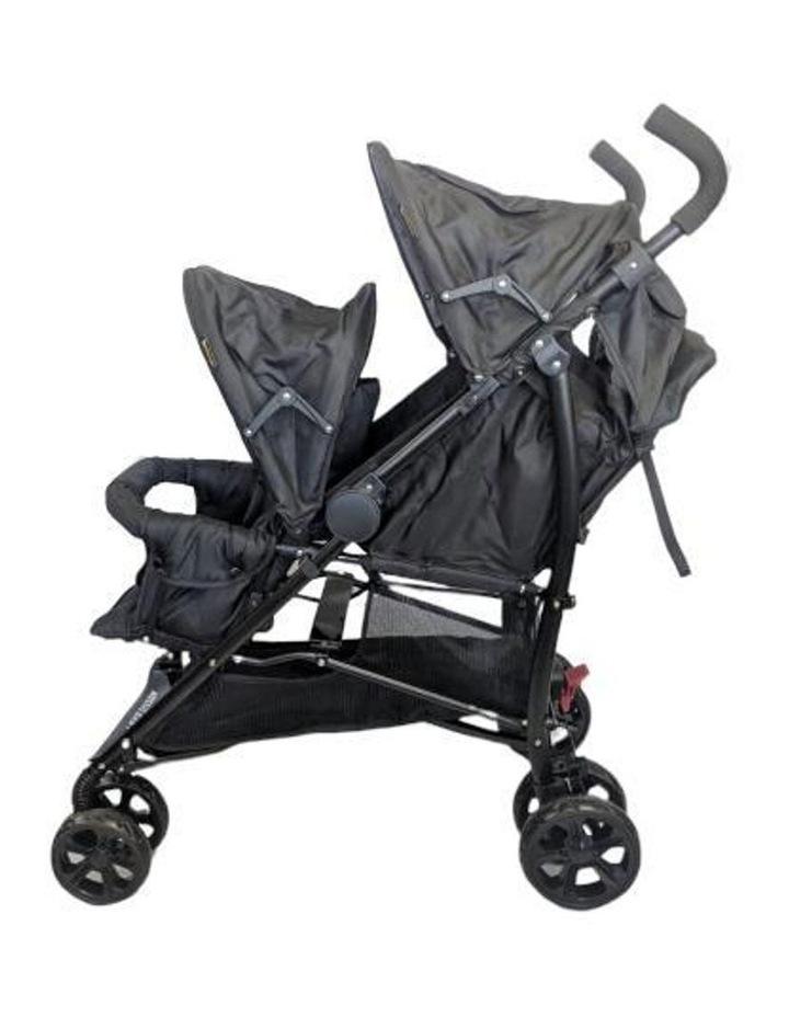 Aussie Baby Vitesse Deux Tandem Stroller - Black image 2