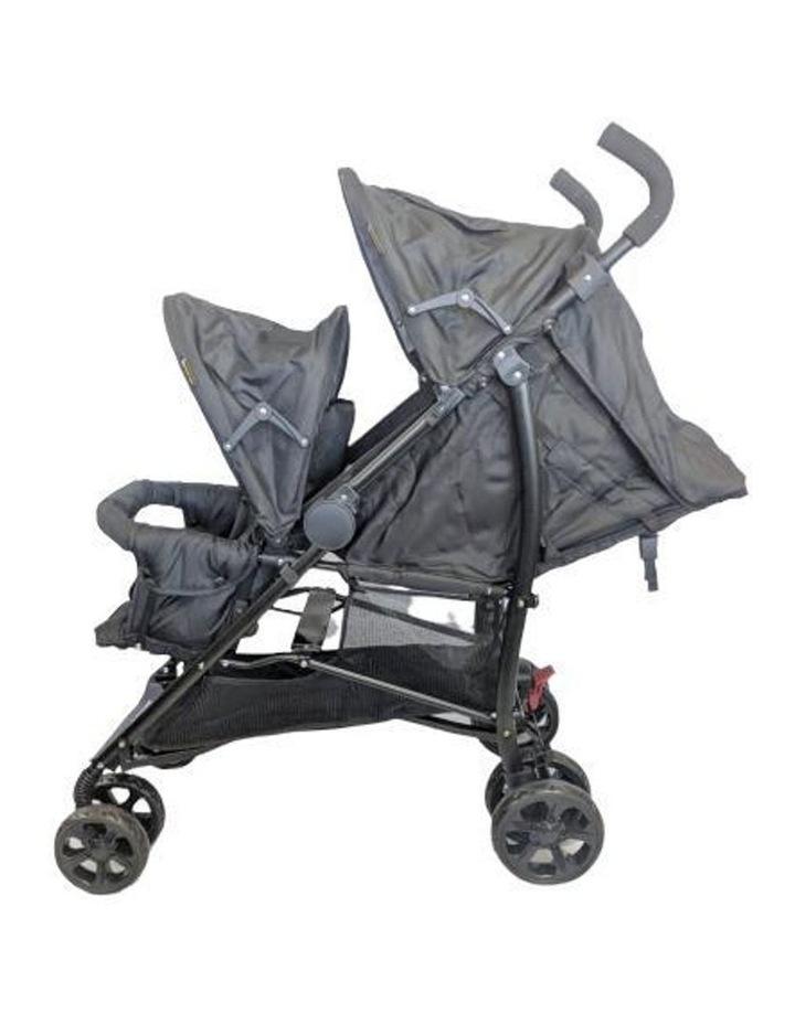 Aussie Baby Vitesse Deux Tandem Stroller - Black image 3